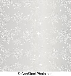 Snowflake seamless pattern - Sparkling sliver christmas...