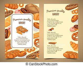 Banner with bakery food or pastry banner - Bakery food or...