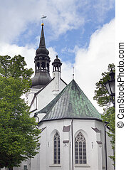 St Mary Cathedral (Dome Church) on Toompea Hill in old...
