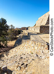 Monte Alban Vertical View - Vertical view of the ruins of...
