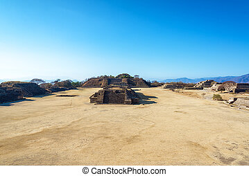 Monte Alban Cityscape - Cityscape view of the ancient ruins...