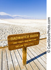 Badwater (the lowest point in North America), Death Valley...