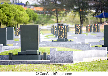 Chinese Cemetary - Image of a Chinese cemetary in Malaysia.