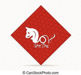 Chinese New Year 2018 rooster greeting card background. Year...