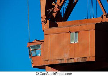 Crane in Bilbao, Bizkaia, Spain