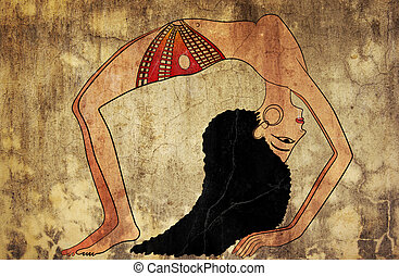 dancer of Ancient Egypt - Image of the dancer of ancient...