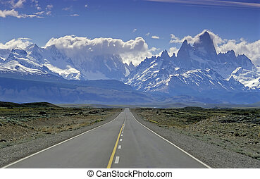 On the way to El Chalten - On the way to the village of El...