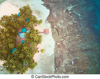 Small island above view - Small tropical island above view...