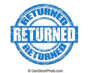 Returned stamp