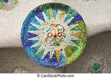 Detail of Parc Guell - A detail of Gaudis fantastic Parc...