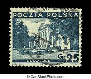 Stamps - Vintage Polish post stamp, circa 1935s.