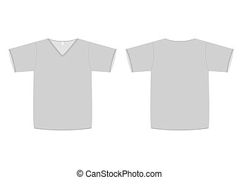V-neck t-shirt vector illustration. - Vector illustration of...