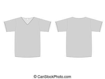V-neck t-shirt vector illustration. - Vector illustration of...