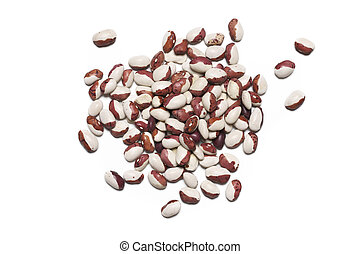 Brown eyed beans - Pile of brown eyed beans isolated on...