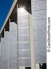 Facade with solar panels
