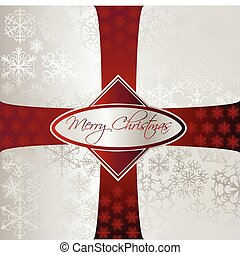 Silver Christmas Background. Vector