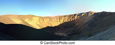 Panorama of the Colorful Ubehebe Crater in Death Valley...