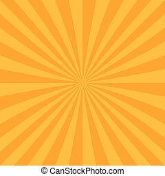 Abstract sun burst background from radial stripes - Orange...