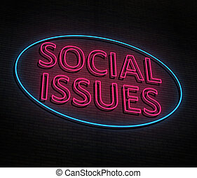 Social issues concept. - 3d Illustration depicting an...