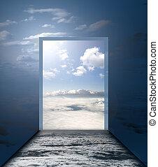 heaven way - stair way to abstract doors of heaven