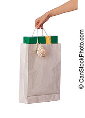 Paper bag with a box