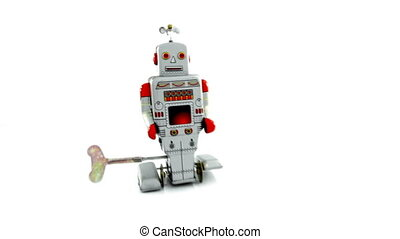 robbot - retro robot toy going fast