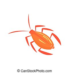 Cockroach insect cartoon vector illustration isolated on a...