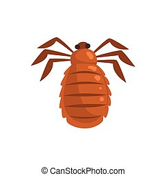 Louse insect parasite cartoon vector illustration isolated...