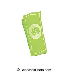 US american dollar money bills cartoon vector illustration...