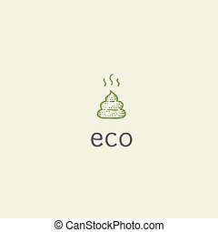 Vector eco poop, illustration on health research problems,...