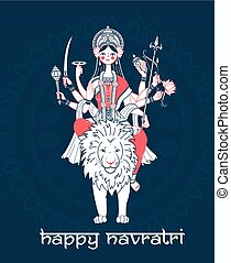 Greeting card Navratri - Greeting card. Holiday - Navratri....