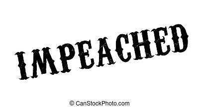 Impeached rubber stamp. Grunge design with dust scratches....