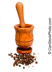 Wooden Mortar and Pestle - Wooden mortar and a pestle...