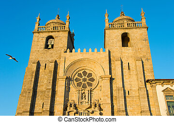 Porto Cathedral at sunset. Portugal - The Porto Cathedral...