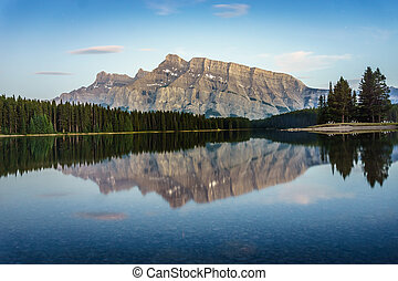 Tranquility of Rockies Mountains, Canada - Tranquility of...