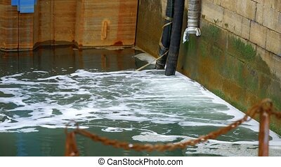 Water Pollution, Wastewater In A Harbor - Graded Version -...