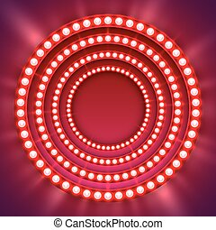 Show light circle red background.