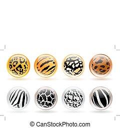 animals skin patterns balls