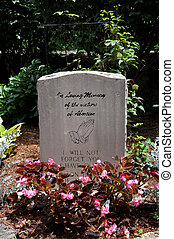 Abortion Tombstone - In the garden at St. Elizabeth's...