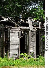 Broken Down and Hopeless - Broken down building, in North...