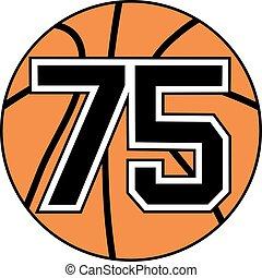 75 basket symbol - Creative design of 75 basket symbol