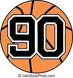 90 basket symbol - Creative design of 90 basket symbol