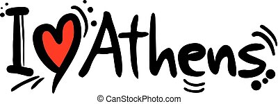 Athens love message - Creative design of Athens love message
