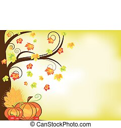 Thanksgiving background - Vector picture of thanksgiving...