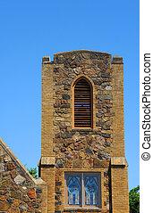 Huntsville Bell Tower - Stone bell tower of the Huntsville...