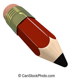 Cute cartoon pencil. Red colorful childrens stationary....
