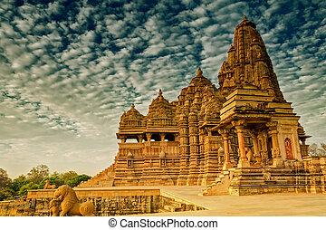 Kandariya Mahadeva Temple, Khajuraho, India-UNESCO world...