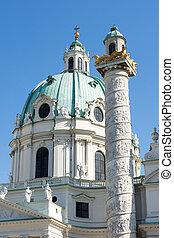 Baroque Karlskirche in Vienna (Austria)