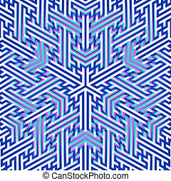 vector swastika ornament background - vector colorful...