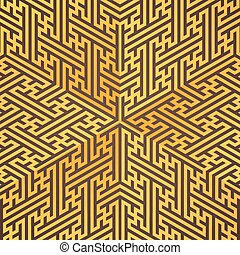 vector swastika ornament background - vector gold metal...